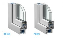 Профільні системи 58 мм і 70 мм