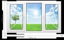 Трьохстулкове пластикове вікно